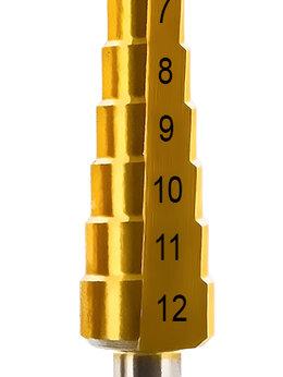 Для дрелей, шуруповертов и гайковертов - Ступенчатое сверло по металлу Практика 4-12 мм,…, 0