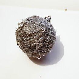 Ёлочные украшения - Елочный шар клубок тайская гирляда, 0