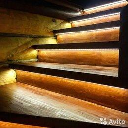 Интерьерная подсветка - Освещение лестницы с забежными ступенями Автоматическая подсветка, 0