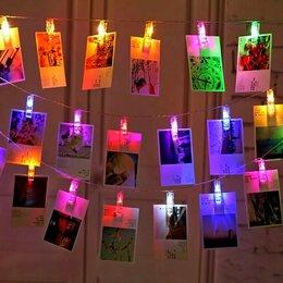 Наука и образование - Гирлянда LED 4м, 20шт, Прищепки цветные, 0