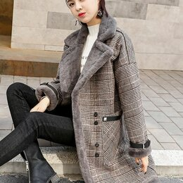 Пальто - Осеннее пальто в клетку (размеры от S до 2XL), 0