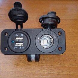 Автоэлектроника и комплектующие - Гнездо прикуривателя + 2 usb 12v встраиваемое, 0