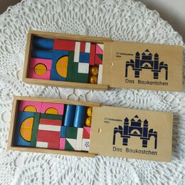 Развивающие игрушки - Кубики деревянные, 0