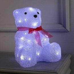 """Головоломки - Luazon Lighting Фигура акрил. """"Медведь сидячий"""" 20х22х30 см, контроллер с дим..., 0"""