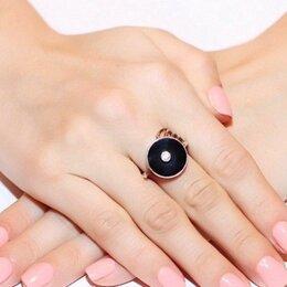 Кольца и перстни - Кольцо с черным ониксом, 0