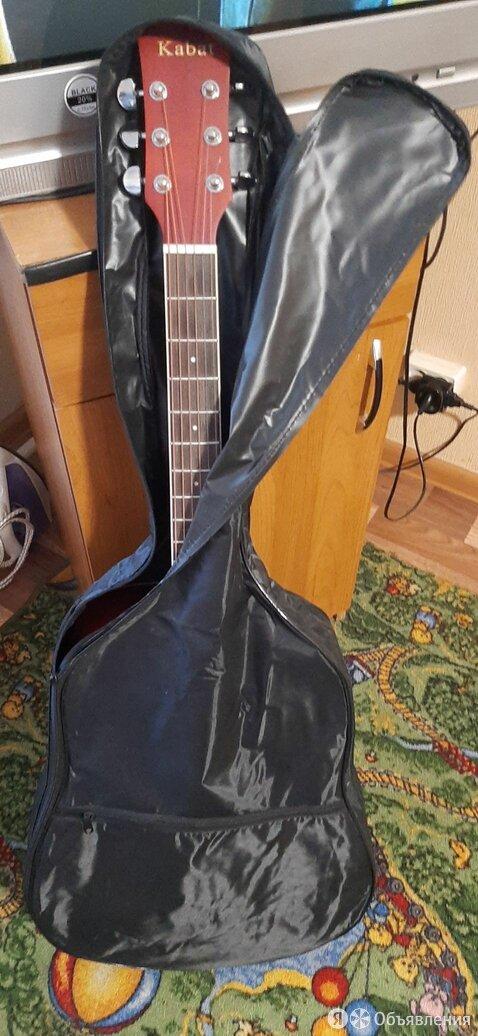 Продаю   акустическую  гитару  .новая   в  чехле  . по цене 5000₽ - Акустические и классические гитары, фото 0