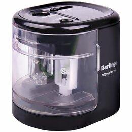Мусаты, точилки, точильные камни - Точилка  электрическая Berlingo Power TX, черная, 2 отв., 0