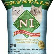 Наполнители для туалетов - N1 Crystals Силикагелевый 30 л, 0