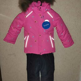 Комплекты верхней одежды - L2507-g зимний костюм для девочки хвасты lessi, 0