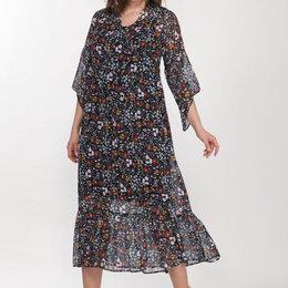 Платья - Платье 1802 LADY STYLE CLASSIC темно-синий+мелкий цветочек Модель: 1802, 0
