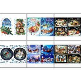 Декупаж - Набор декупажных карт 6 шт 'Новый год по-русски' А4, 45 г/м2, 0