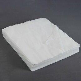 Бумажные салфетки, носовые платки - Салфетки косметические, плотность 50г/м2, спанлейс, 30 x 30 см, 100 шт, 0