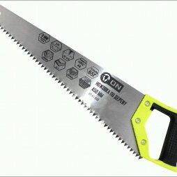 Пилы, ножовки, лобзики - 3-ON Ножовка по дереву, 2-х сторонняя заточка, закаленный зуб 8 мм, 450 мм, 0..., 0