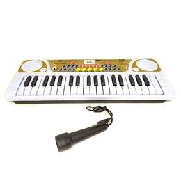 Детские музыкальные инструменты - Детский синтезатор с микрофоном KeyBoard, 0