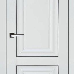 Межкомнатные двери - Белая матовая дверь Либерти-3, 0