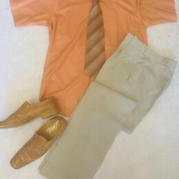 Брюки - Мужские брюки, рубашка, ботинки, 0