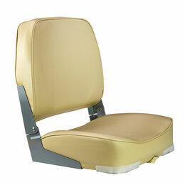Плетеная мебель - Кресло мягкое складное Economy, обивка винил, цвет песочный, Marine Rocket, 0