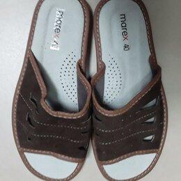 Домашняя обувь - Тапки мужские кожанные  Marex, 0
