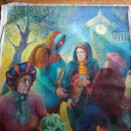 """Картины, постеры, гобелены, панно - Л Кипренская """"Последние времена"""", масло, размер 1.5 на1.5, 0"""