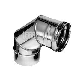 Дымоходы - Колено угол 90° (430/0,8 мм) D 150 Ferrum, 0