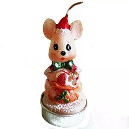 Декоративные свечи - Свеча Мышка с бантом 779 7,5см 1/4, 0