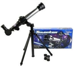 Наборы для исследований - Детский телескоп на штативе, с аксессуарами, 0