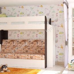 Кроватки - Кровать карамель 75 двухъярусная с диваном, 0