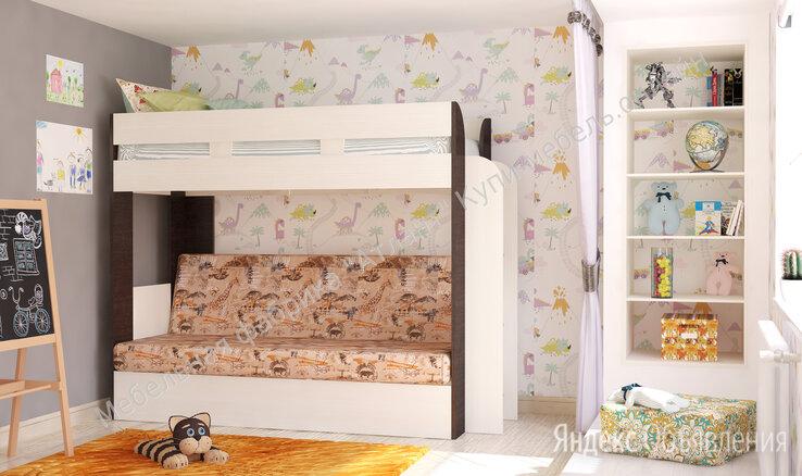 Кровать карамель 75 двухъярусная с диваном по цене 26500₽ - Кроватки, фото 0