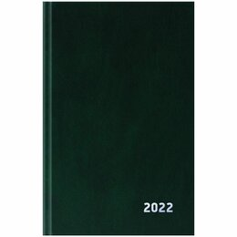 Канцелярские принадлежности - Ежедневник А5  2022г. OfficeSpace, бумвинил, зеленый, 0