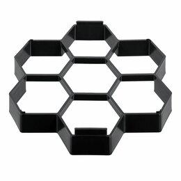 Садовые дорожки и покрытия - Форма для отливки садовых дорожек 28,5х27х4см Соты Vortex, 0