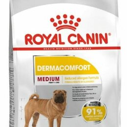 Корма  - ROYAL CANIN Сухой корм для собак средних пород MEDIUM Dermacomfort 10 кг, 0