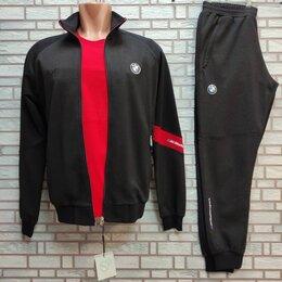 Спортивные костюмы - Спортивный костюм черный BMW перфорированная ткань, 0