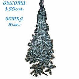 Ёлки искусственные - Искусственная елка зелёно-белая 150см 5см, 0