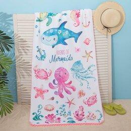 Туалетная бумага и полотенца - Полотенце пляжное Этель 'Friends', 75*140 см, микрофибра, 100 п/э, 0