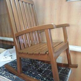Кресла и стулья - Кресло качалка садовая из дерева, 0
