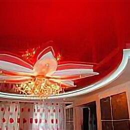 Потолки и комплектующие - Натяжной потолок красный глянцевый с установкой и профилем, 0