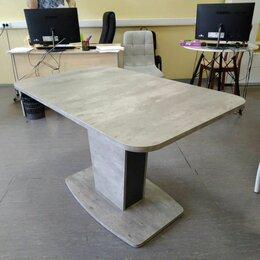Столы и столики - Стол обеденный раздвижной Азалия-3 (Метрополитен Грей/Антрацит), 0