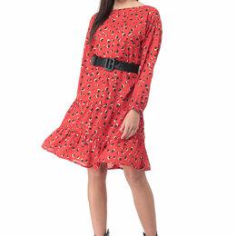 Планшеты - Платье 898 DELUIZ N красный леопард Модель: 898, 0