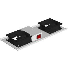 Аксессуары и запчасти для оргтехники - Блок вентиляторный в крышу 2 вент. с термодатчиком и выключателем, 0