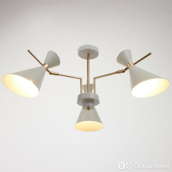 Люстра 702-3-S, 3х60Вт Е14, цвет белый по цене 6971₽ - Люстры и потолочные светильники, фото 0
