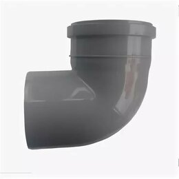 Канализационные трубы и фитинги - КОНТУР Отвод ПП 110х110/90гр. Стандарт КОНТУР, 0
