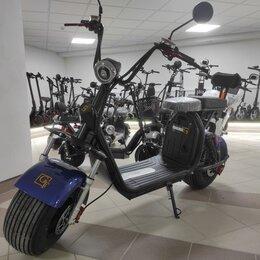 Мототехника и электровелосипеды - Электроскутер Citycoco GT X7 PRO синий, 0