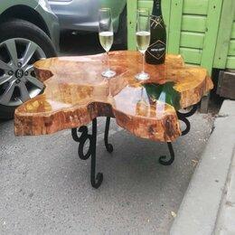 Столы и столики - Журнальный столик из спила карагача, 0