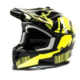 Спортивная защита - Шлем мото кроссовый GTX 633 (M) #6 BLACK/FLUO YELLOW, 0