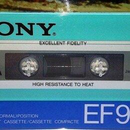 """Музыкальные CD и аудиокассеты - Аудиокассеты Sony EF 90 Japan-85г СССР-не """"improved"""" Новые, 0"""
