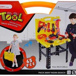 Детские наборы инструментов - Игровой набор инструментов Юный мастер, 65 деталей , арт. C110 , 0