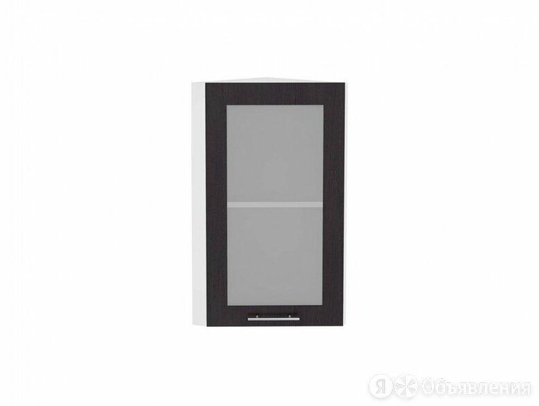 Шкаф верхний торцевой остекленный Валерия-М ВТ 230 Венге-Белый по цене 1974₽ - Мебель для кухни, фото 0