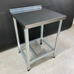 Мебель для учреждений - Стол производственный пристенный из нержавейки 600х600х850, 0