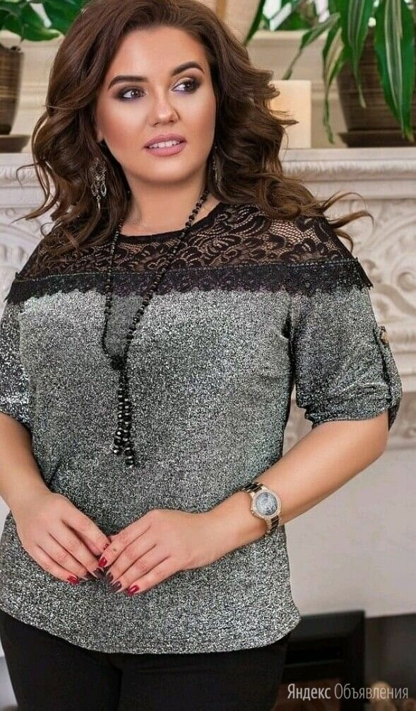 Блестящие блузки большого размера р-ры 54-66 по цене 1299₽ - Блузки и кофточки, фото 0