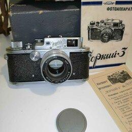 """Пленочные фотоаппараты - Фотоаппарат """"Зоркий-3"""" с просветленным объективом """"Юпитер-8"""" в комплекте, 0"""